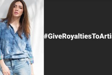 Give royalties to artists campaign in Pakistan