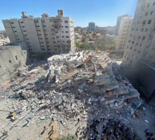 Israel destroys Gaza tower housing AP and Al Jazeera offices